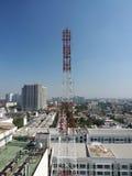 Telecommunication tower. Royalty Free Stock Image