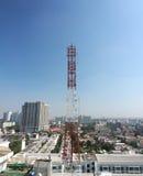 Telecommunication tower . Royalty Free Stock Image