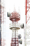 Telecommunication tower. With a sunlight. Used to transmit television signals Royalty Free Stock Photo