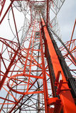 Telecommunication tower. With a sunlight. Used to transmit television signals Stock Photo