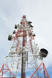 Telecommunication tower. With a sunlight. Used to transmit television signals Royalty Free Stock Photography