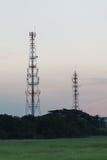 Telecommunication tower sunrise time Royalty Free Stock Images
