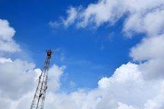 Telecommunication tower. Royalty Free Stock Images