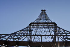 Telecommunication tower top - Eiffel tower similar Stock Images