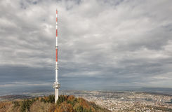 Telecommunication Tower on the Top of Mount Uetliberg Royalty Free Stock Photography