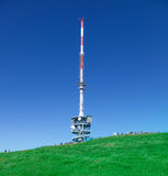 Telecommunication tower on the top of Mt. Rigi Stock Photo