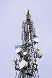 Telecommunication tower view from bellow Royalty Free Stock Photography