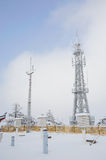 Telecommunication tower and weather station Stock Image