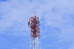 Telecommunication tower. Wireless Communication Antenna Transmitter. royalty free stock photos