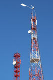 Telecommunication towers Royalty Free Stock Image