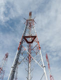 Telecommunication towers. With blue sky Royalty Free Stock Images