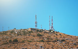 Telecommunication towers. Stock Images
