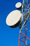 Telecommunication towers with blue sky Royalty Free Stock Photo