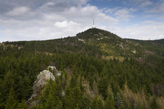 Telecommunication transmitters tower on Jested, Liberec, Czech Republic Stock Images