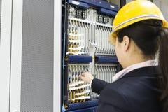 Telecommunication unit in telecommunication room Stock Image