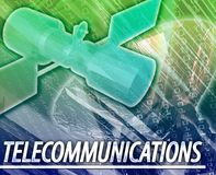 Telecommunications Abstract concept digital illustration Stock Photos
