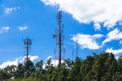Telecommunications antenna Royalty Free Stock Image
