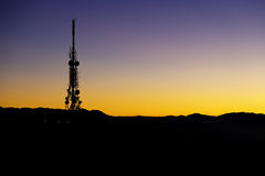 Telecommunications antenna. For mobile phone stock photos