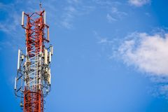 Mobile phone signal tower Stock Images