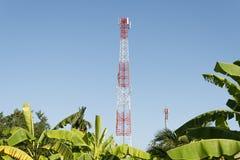 Telecommunications antenna. Royalty Free Stock Photos