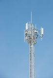 Telecommunications antenna for radio, television and telephone o Royalty Free Stock Photo