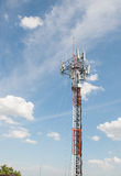 Telecommunications antenna for radio, television and telephone w Royalty Free Stock Image