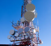 Telecommunications antenna Stock Photos