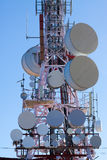 Telecommunications antenna. For radio, TV  and telephony Royalty Free Stock Images