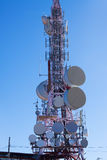 Telecommunications antenna for radio, TV  and telephony Stock Photo