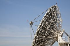 Telecommunications antenna and the sky Stock Photo