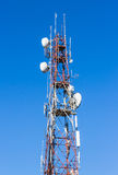 Telecommunications antenna tower. Stock Images