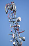 Telecommunications antennas Royalty Free Stock Photo