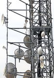 Telecommunications antennas and repeaters Royalty Free Stock Image