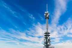 Telecommunications equipment - directional mobile phone antenna Royalty Free Stock Image