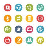 Telecommunications Icons -- Fresh Colors Series Stock Photos