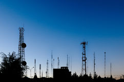 Telecommunications landscape Royalty Free Stock Images
