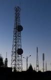 Telecommunications landscape Stock Photo