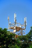 Telecommunications mast, Crete. Large telecommunications mast in the city centre, Heraklion, Crete, Greece, Europe Stock Images