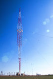 Telecommunications mast tower Stock Images