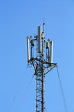 Telecommunications pole. With blue sky Royalty Free Stock Photos