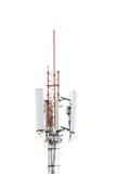 Telecommunications pole isolated. On white background Stock Image