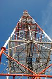 Telecommunications Relay Tower. Image of communications tower against blue sky Stock Images