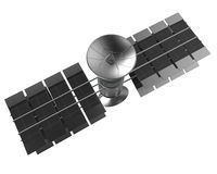 Telecommunications satellite isolate , clipping path Stock Photos