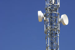 Telecommunications tower. And colorful sky Stock Photo