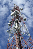 Telecommunications tower Royalty Free Stock Photo