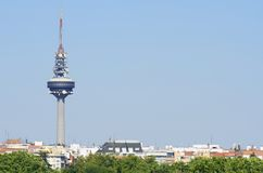 Telecommunications tower. Known as Piruli in Madrid, Spain Stock Image