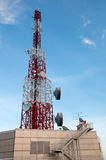 Telecommunications tower Royalty Free Stock Images