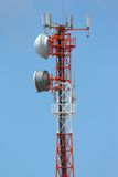 Telecommunications Tower. With several antennas Royalty Free Stock Image