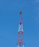Telecommunications tower. Royalty Free Stock Photography