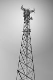 Telecommunications tower. For mobile and cell phone Stock Images